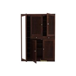 Paulin Shoe Cabinet (Walnut Finish)