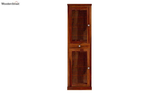 Radius Shoe Cabinet (Honey Finish)-3