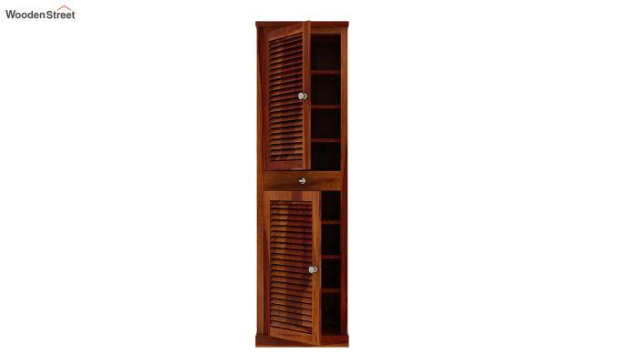 Radius Shoe Cabinet (Honey Finish)-4
