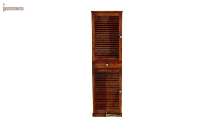Radius Shoe Cabinet (Honey Finish)-2