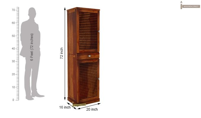Radius Shoe Cabinet (Honey Finish)-5