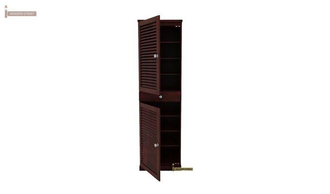 Radius Shoe Cabinet (Mahogany Finish)-1