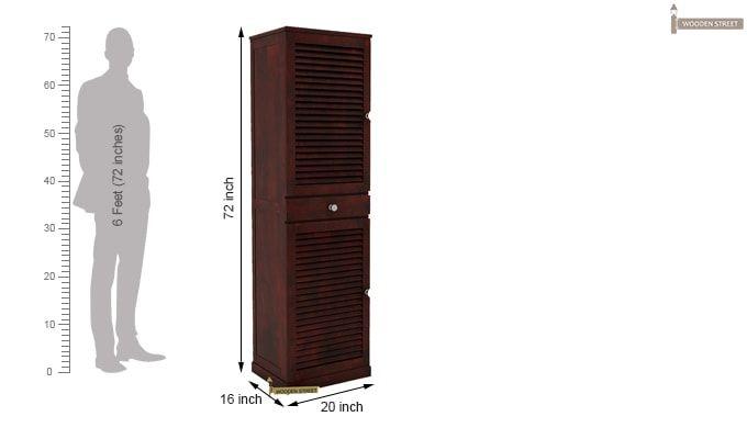 Radius Shoe Cabinet (Mahogany Finish)-4