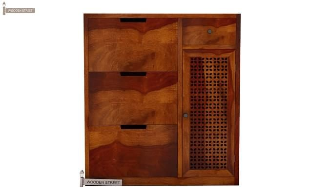 Rae Shoe Cabinet (Honey Finish)-3