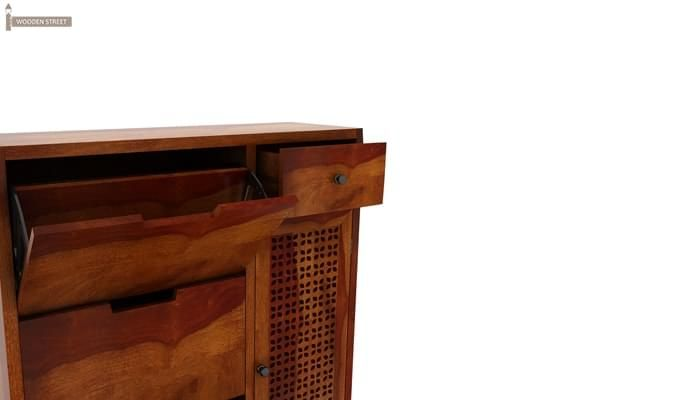 Rae Shoe Cabinet (Honey Finish)-5
