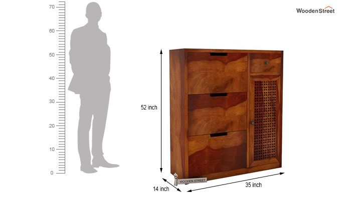 Rae Shoe Cabinet (Honey Finish)-6