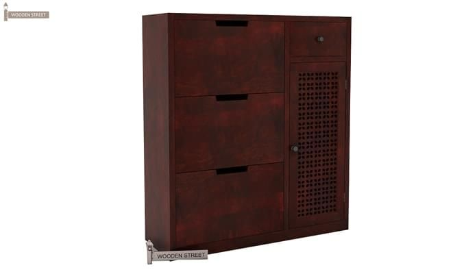 Rae Shoe Cabinet (Mahogany Finish)-2