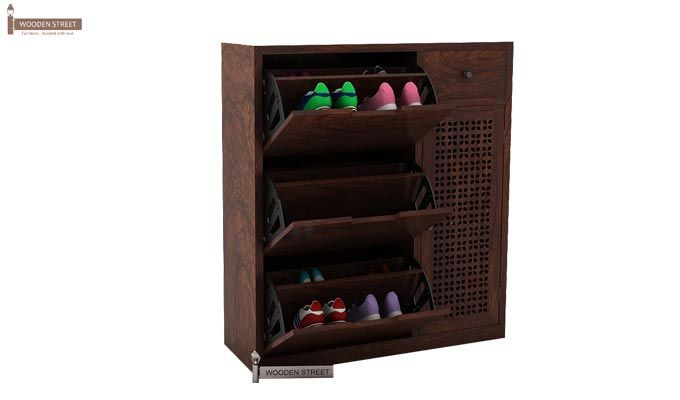 Rae Shoe Cabinet (Walnut Finish)-1