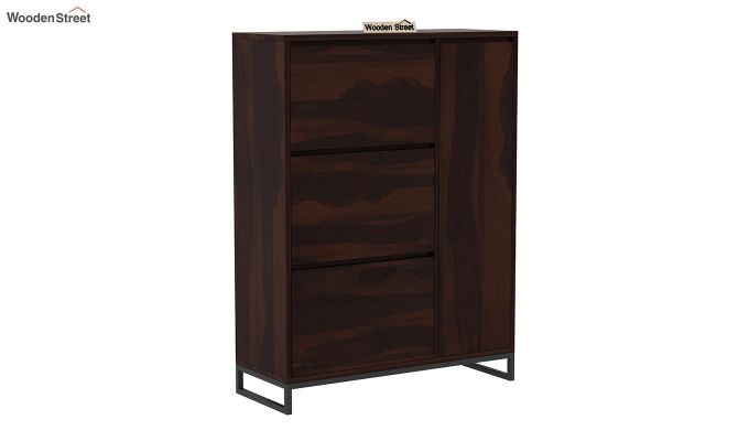 Ray Shoe Rack (Walnut Finish)-3