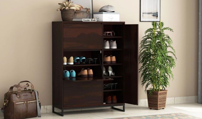 Ray Shoe Rack (Walnut Finish)-1