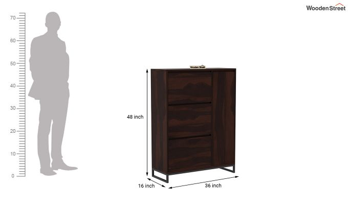 Ray Shoe Rack (Walnut Finish)-7