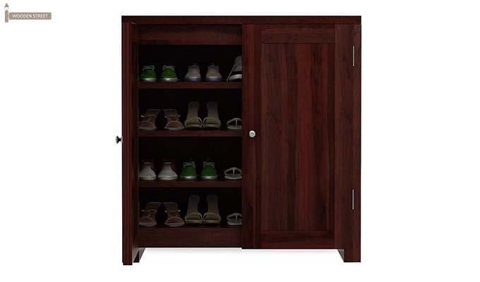 Baconz Footwear Storage Stand (Mahogany Finish)-4