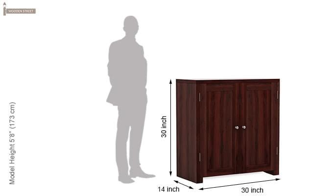 Baconz Footwear Storage Stand (Mahogany Finish)-5