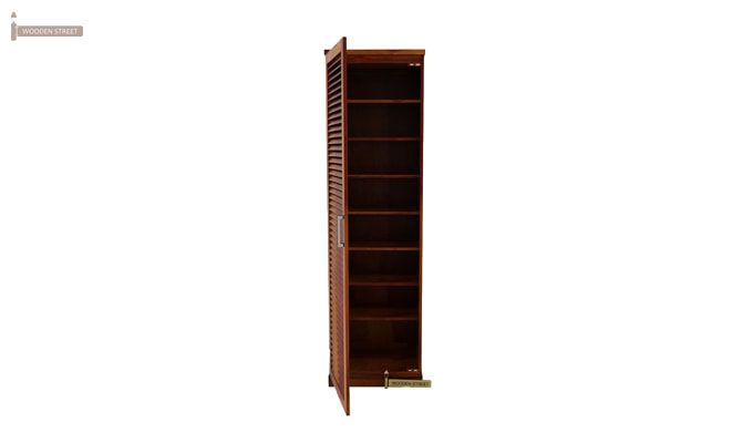 Reo Shoe Cabinet (Honey Finish)-1