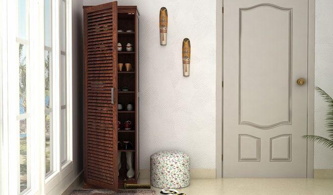 Reo Shoe Cabinet (Walnut Finish)-1