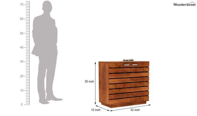 Rowan Multi Utility Cabinet (Honey Finish)-5