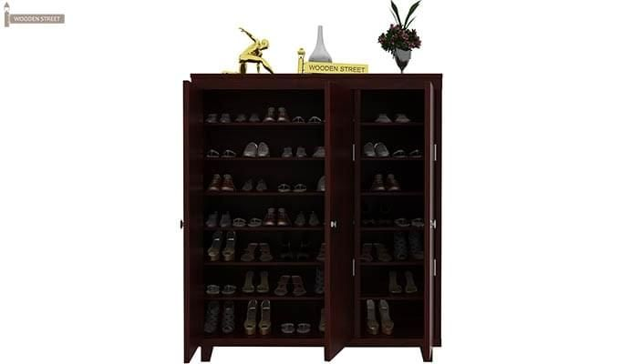 Ruben Shoe Rack (Mahogany Finish)-3