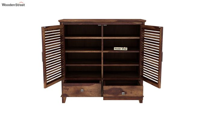 Velvic Footwear Rack With Drawers (Teak Finish)-5