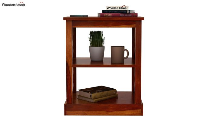 Adonis Chair Side End Table (Honey Finish)-2