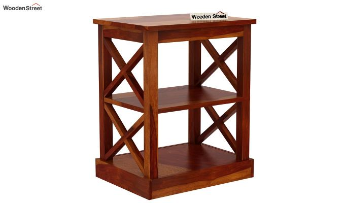 Adonis Chair Side End Table (Honey Finish)-3