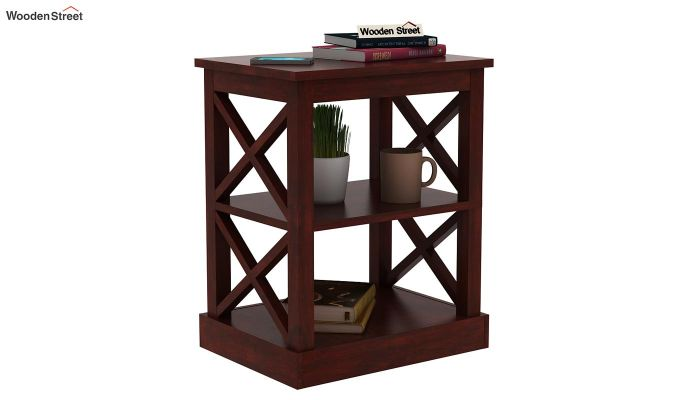 Adonis Chair Side End Table (Mahogany Finish)-1