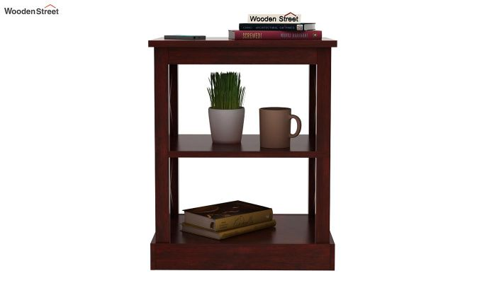 Adonis Chair Side End Table (Mahogany Finish)-2