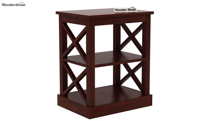 Adonis Chair Side End Table (Mahogany Finish)-3