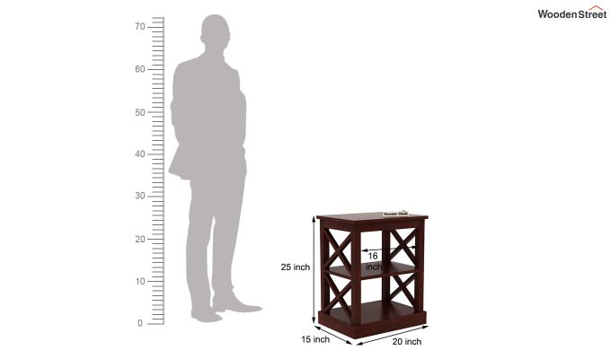Adonis Chair Side End Table (Mahogany Finish)-4