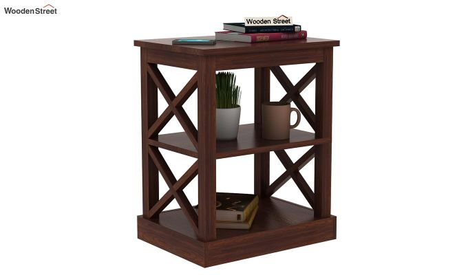 Adonis Chair Side End Table (Walnut Finish)-2