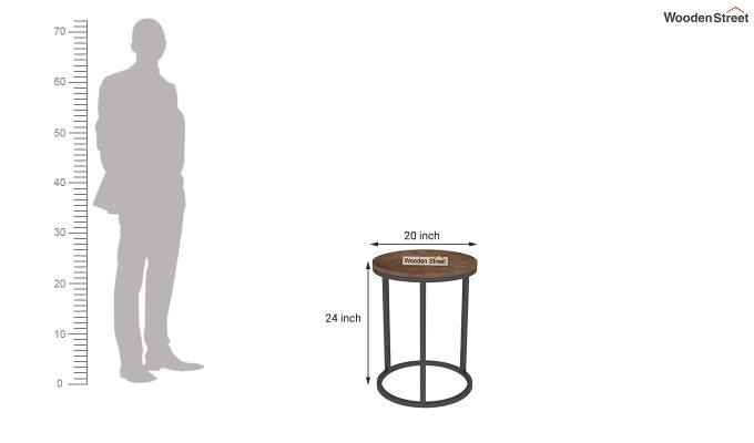 Antelope End Table (Teak Finish)-3