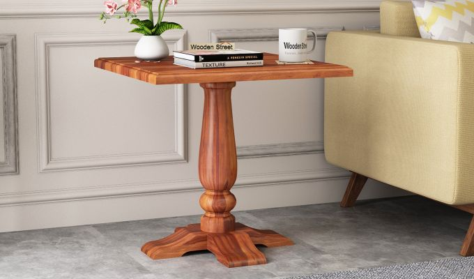 Ashby Side End Table (Honey Finish)-1