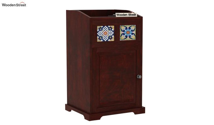 Boho Chair Side End Table (Mahogany Finish)-3
