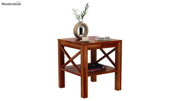 Bonn Chair Side Table (Honey Finish)-2