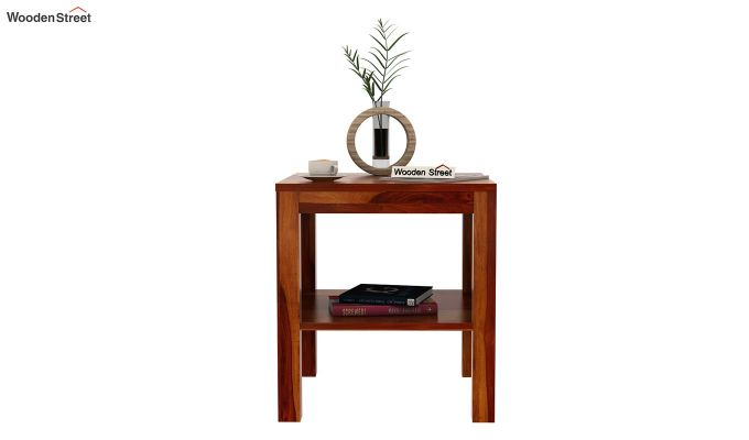 Bonn Chair Side Table (Honey Finish)-3