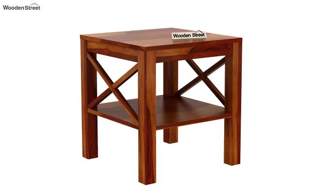 Bonn Chair Side Table (Honey Finish)-4
