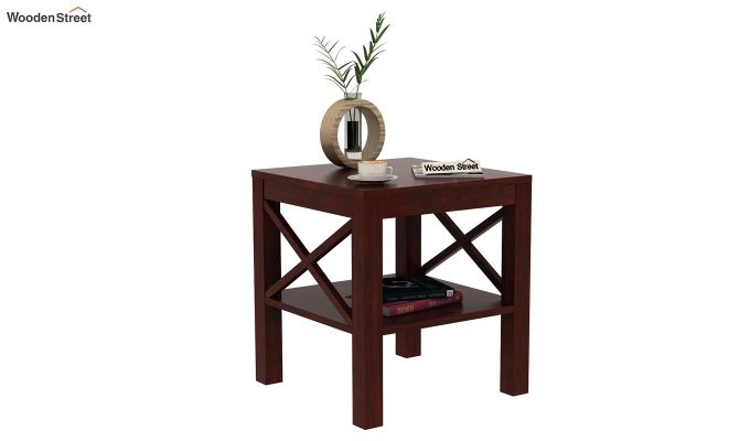 Bonn Chair Side Table (Mahogany Finish)-1