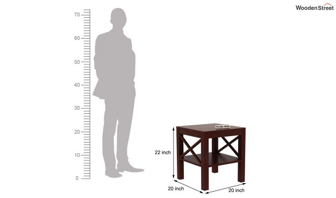 Bonn Chair Side Table (Mahogany Finish)-5