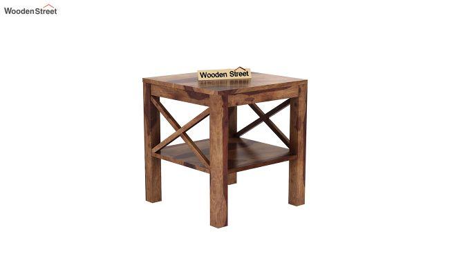 Bonn Chair Side Table (Teak Finish)-2
