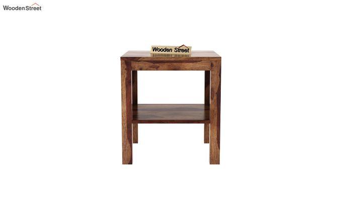 Bonn Chair Side Table (Teak Finish)-3