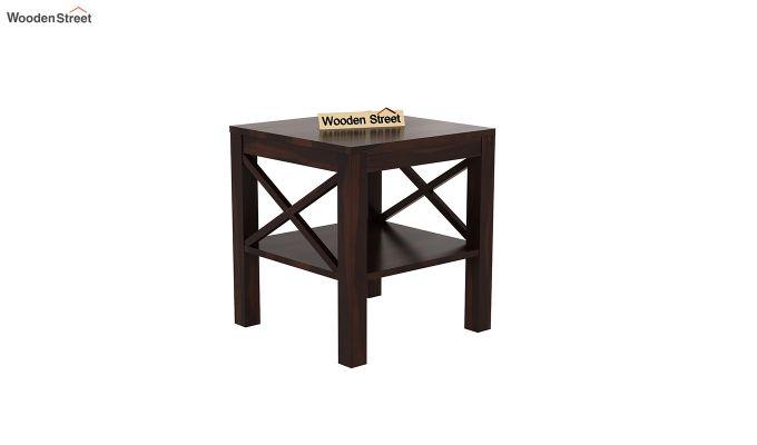 Bonn Chair Side Table (Walnut Finish)-2