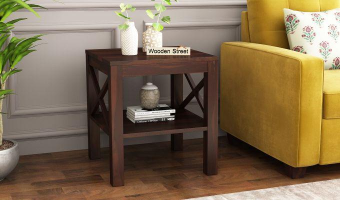 Bonn Chair Side Table (Walnut Finish)-1