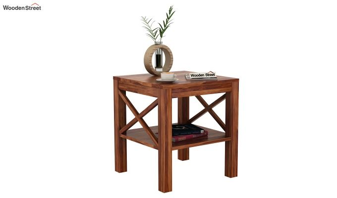 Bonn Chair Side Table (Teak Finish)-1