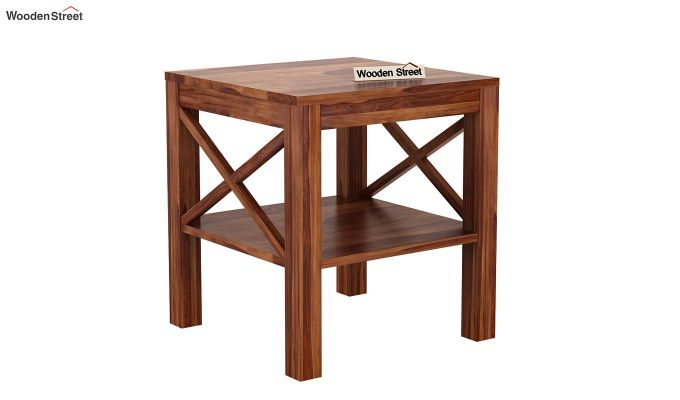 Bonn Chair Side Table (Teak Finish)-3