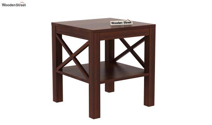 Bonn Chair Side Table (Walnut Finish)-3
