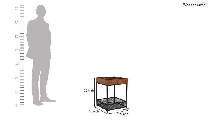 Bonny End Table (Teak Finish)-6