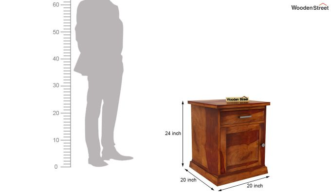Caramel Side End Table (Honey Finish)-6