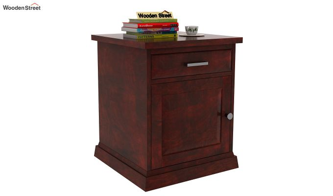 Caramel Side End Table (Mahogany Finish)-1