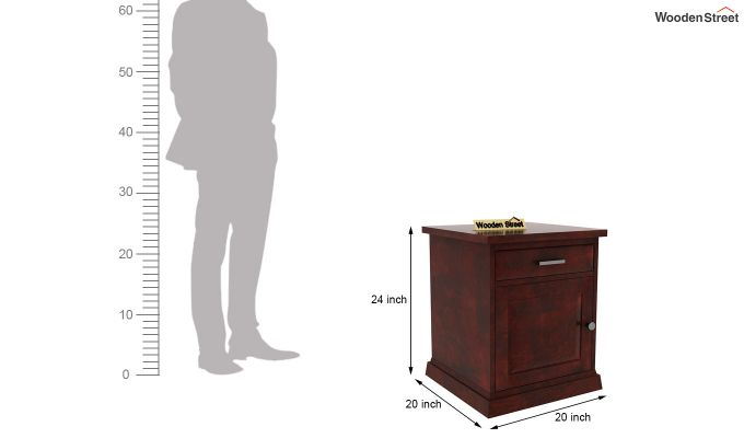 Caramel Side End Table (Mahogany Finish)-6