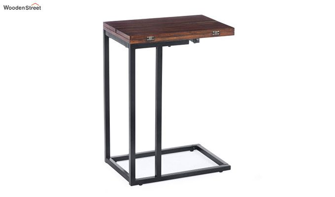 Clint Folding Side Table (Walnut Finish)-3