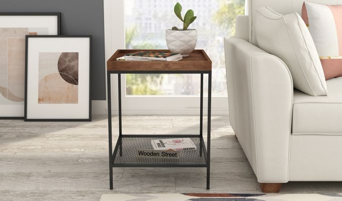Dawn End Table (Walnut Finish)-1